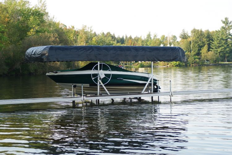 Boat Lift Canopy Boat Lift Canopy Boat Lift Canopy ... & Bertrand Ontario Boat Lift Canopy for keeping your boat safe from ...